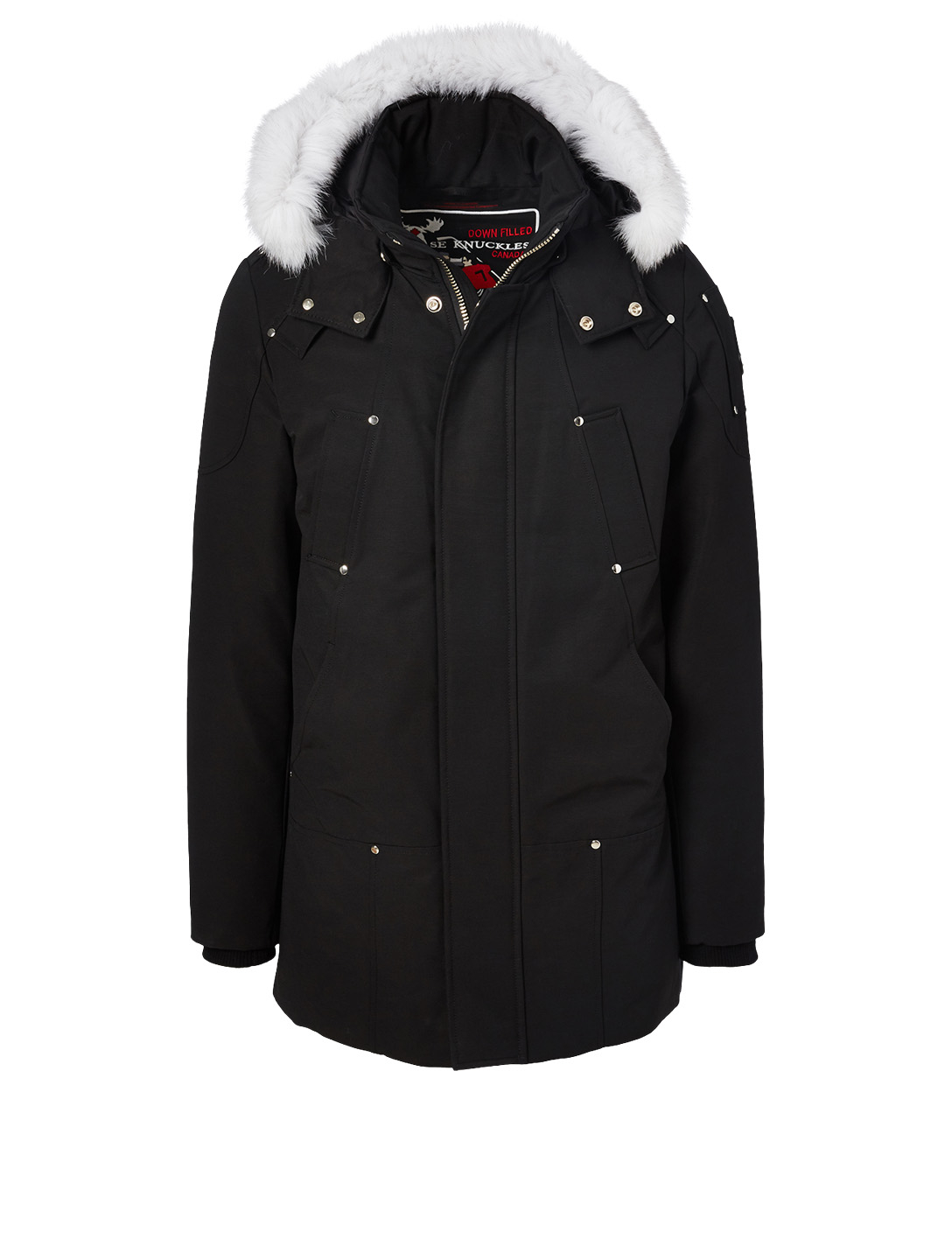 MOOSE KNUCKLES Stirling Parka With Fur Hood Men's Black