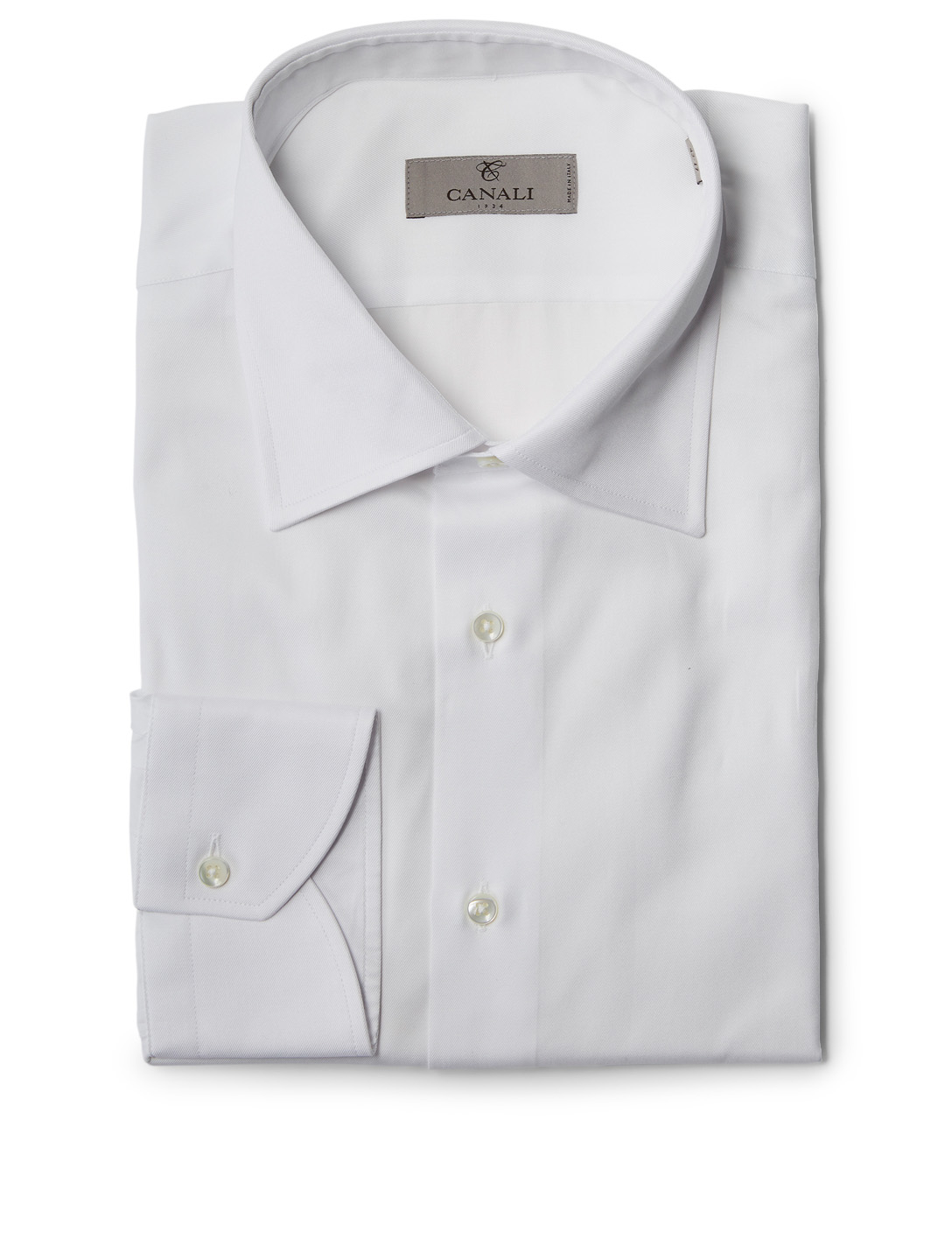 CANALI Cotton Dress Shirt Men's White