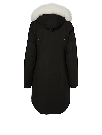 MOOSE KNUCKLES Stirling Down Parka With Fur Hood Women's Black