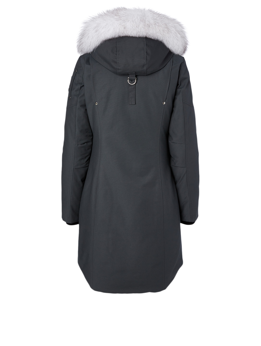 MOOSE KNUCKLES Stirling Down Parka With Fur Hood Women's Grey