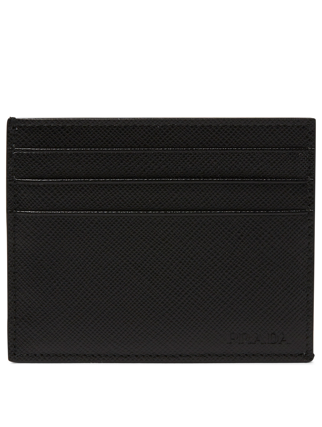 469ddef327ac70 PRADA Saffiano Leather Card Holder Men's Black ...