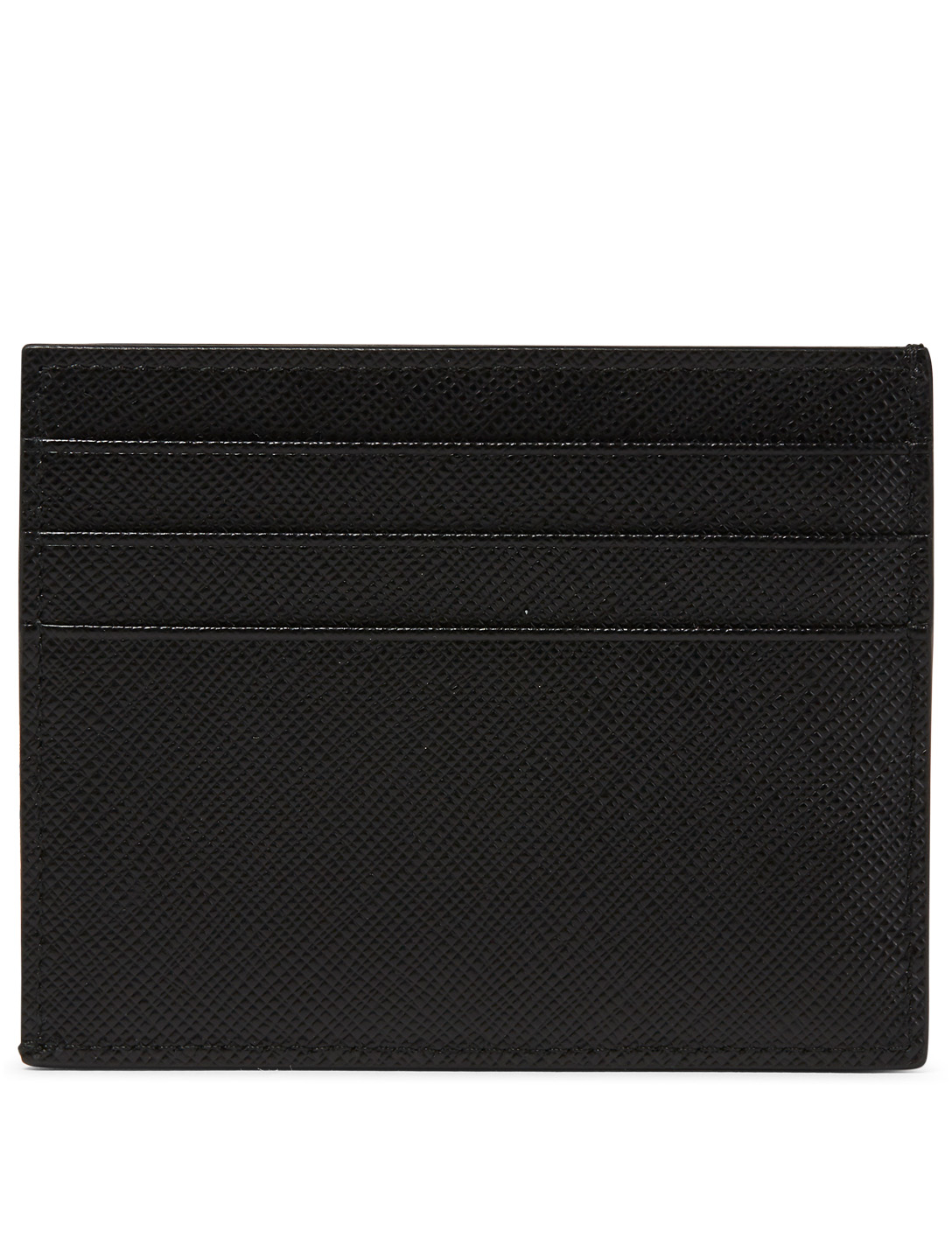 PRADA Saffiano Leather Card Holder Men's Black