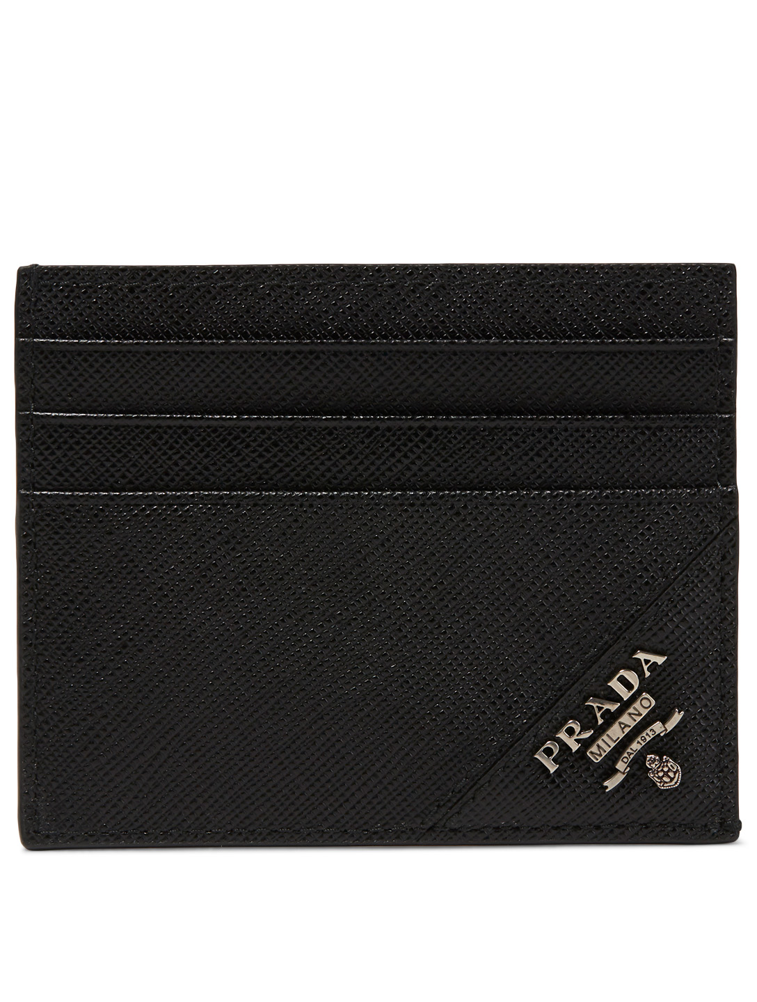 81d75bec2394 PRADA Saffiano Leather Logo Card Holder Men's Black ...