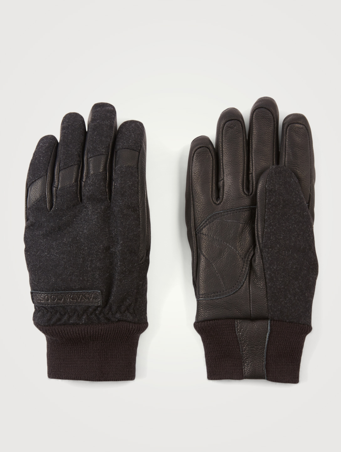 CANADA GOOSE Wool And Leather Gloves Women's Black