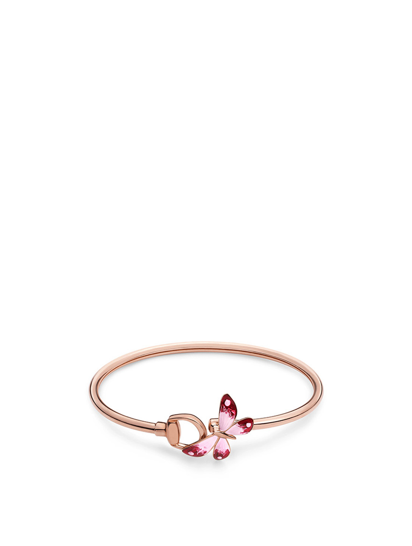 4a9016c0fcfdc GUCCI Flora 18K Rose Gold Bangle Bracelet   Holt Renfrew