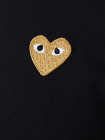 COMME DES GARÇONS PLAY Gold Heart T-Shirt Men's Black