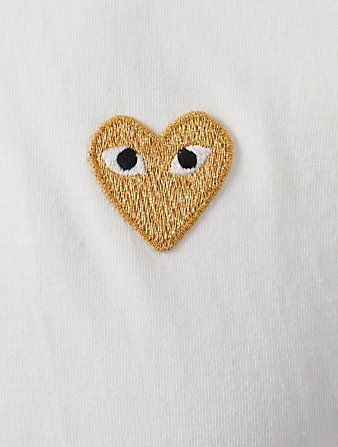 COMME DES GARÇONS PLAY Gold Heart T-Shirt Men's White