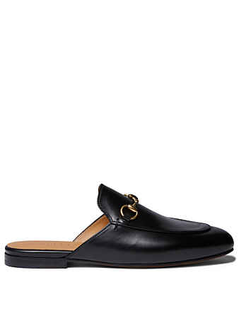 GUCCI Princetown Leather Slippers Womens Black