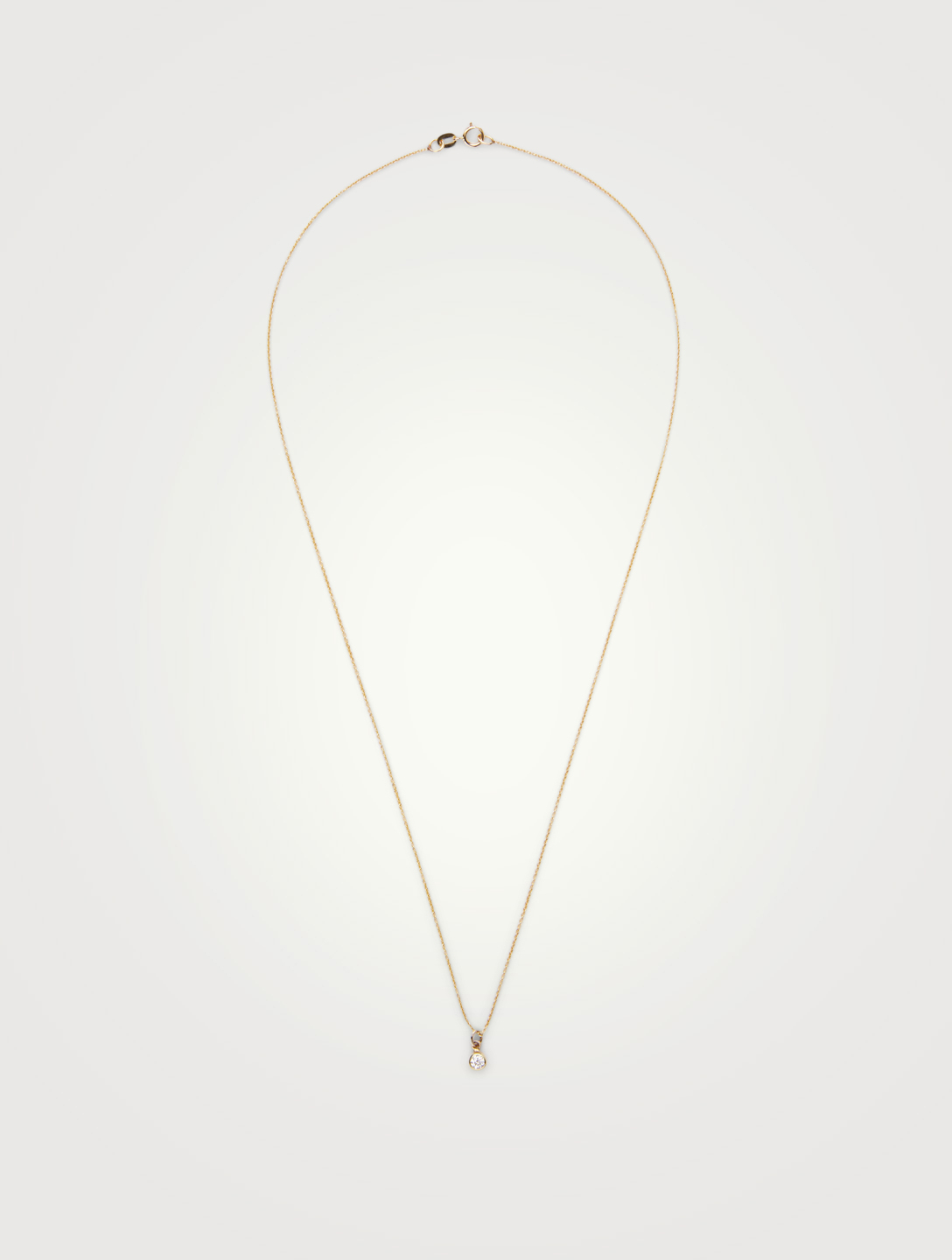 JENNIFER MEYER Gold Single Bezel Diamond Necklace Women's Gold