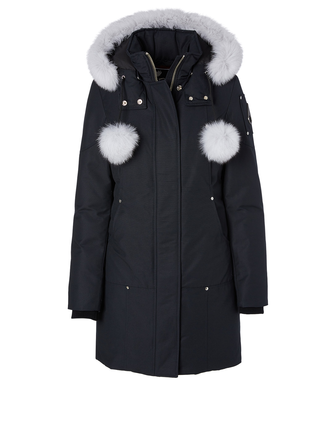 MOOSE KNUCKLES Stirling Down Parka With Fur Trim Women's Blue