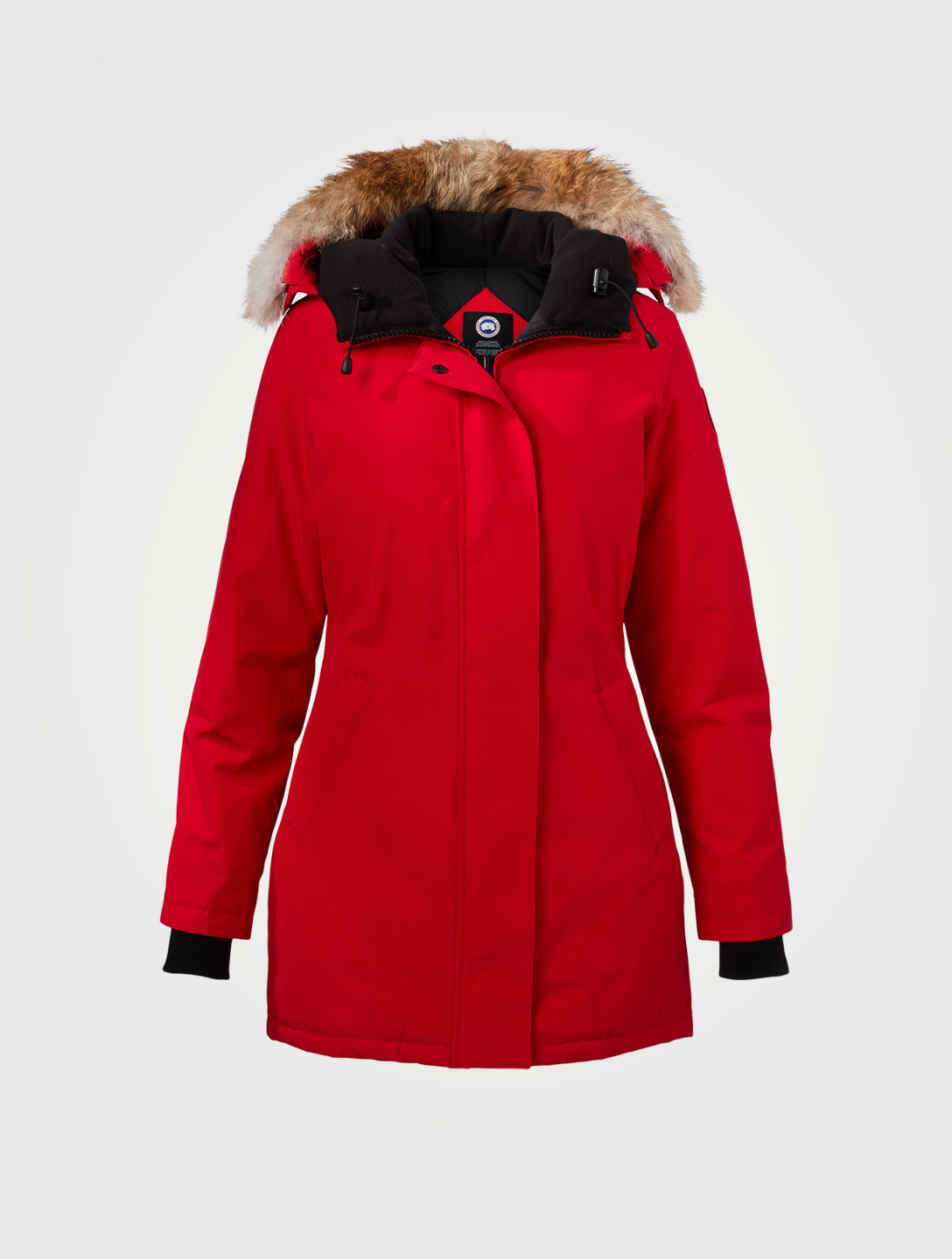 CANADA GOOSE Victoria Down Parka With Fur Hood Women's Red