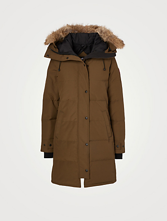 CANADA GOOSE Shelburne Down Parka With Fur Hood Women's Green