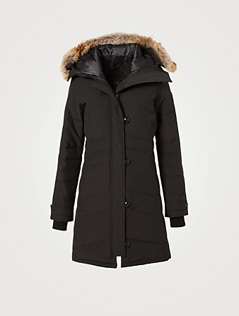 CANADA GOOSE Lorette Black Label Down Parka With Fur Hood Women's Black