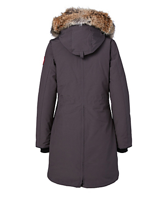 CANADA GOOSE Rossclair Down Parka With Fur Hood Women's Grey