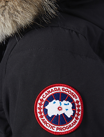 CANADA GOOSE Shelburne Down Parka With Fur Hood - Fusion Fit Women's Black