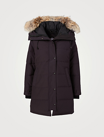 CANADA GOOSE Shelburne Down Parka With Fur Hood - Fusion Fit Women's Blue