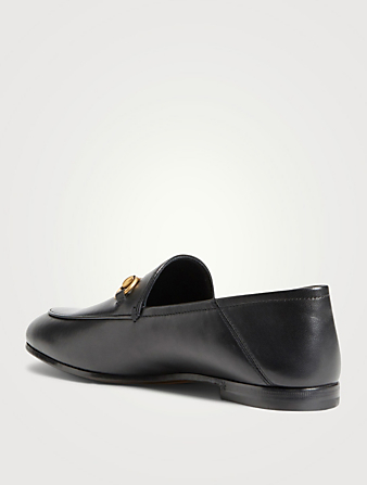 GUCCI Leather Horsebit Loafers Women's Black
