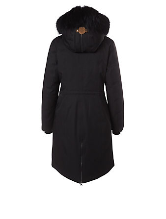 MACKAGE Enia Down Coat With Fur Hood Créateurs Noir