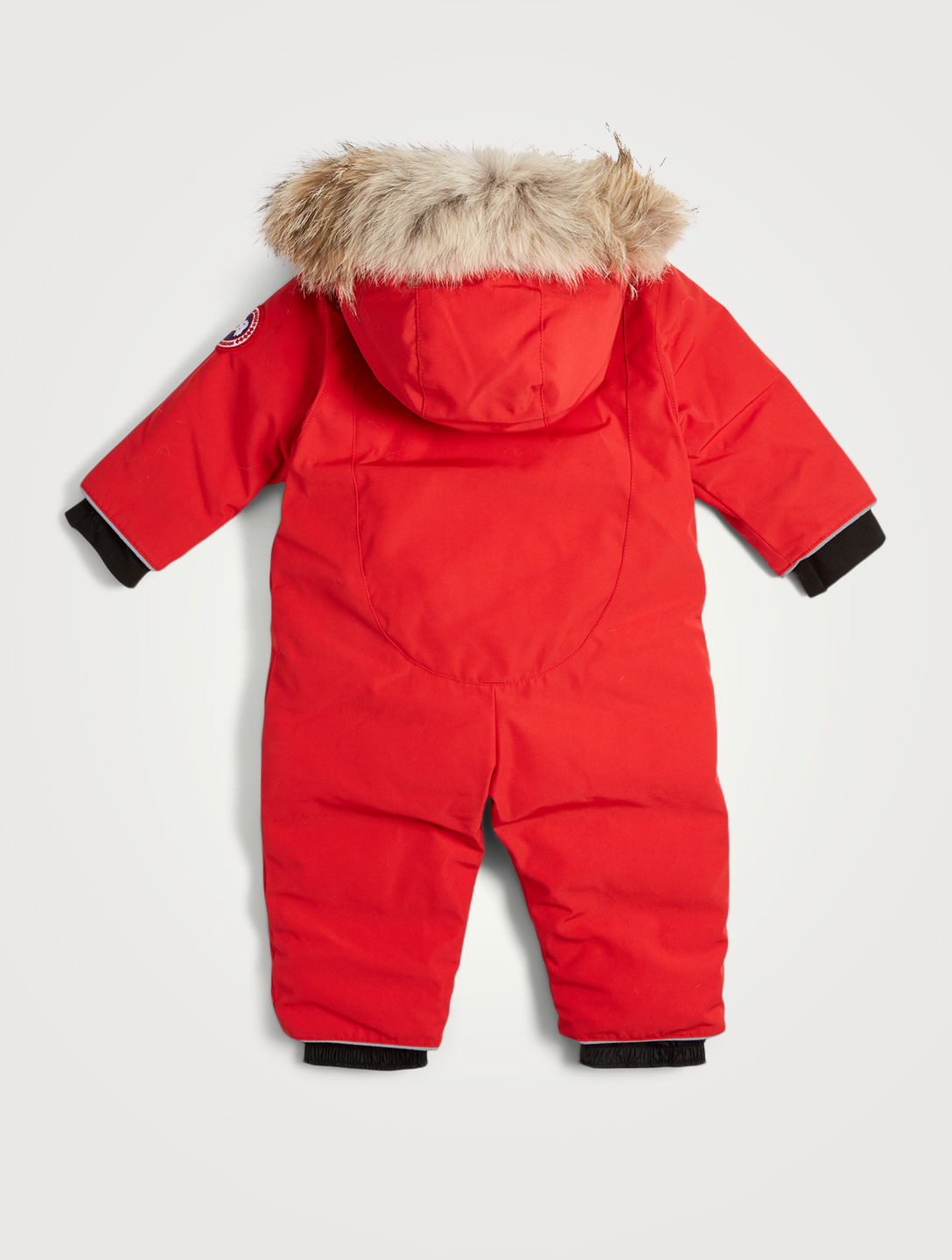 CANADA GOOSE Baby Lamb Down Snowsuit With Fur Hood Kids Red