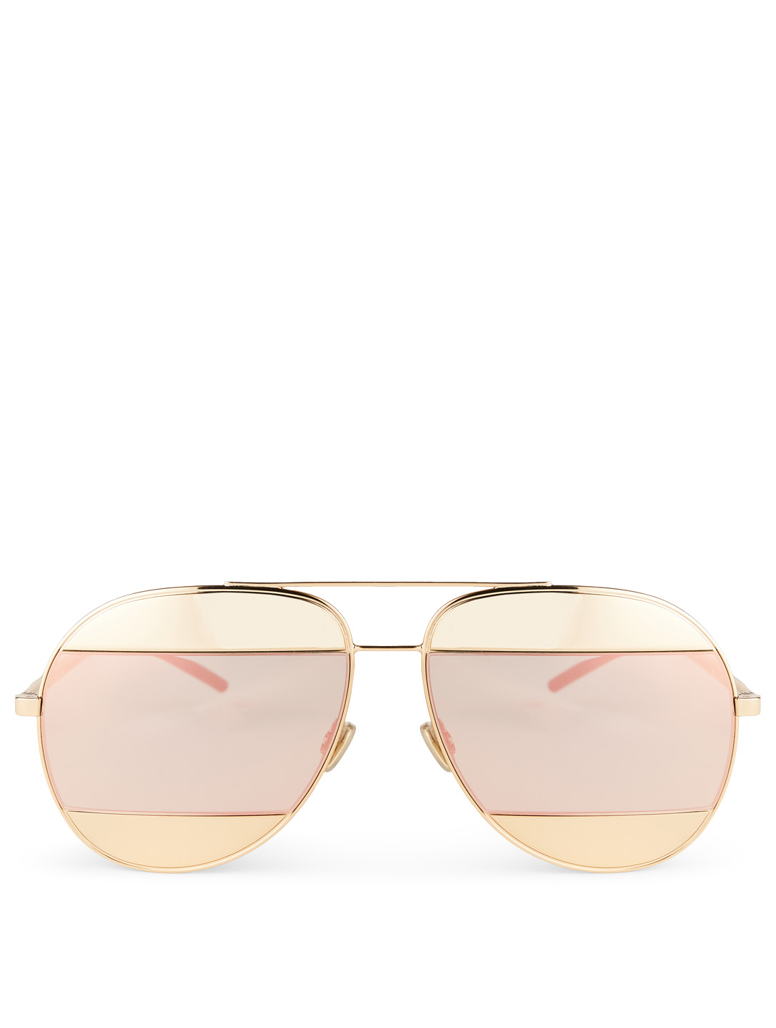DIOR DiorSplit1 Aviator Sunglasses Women's Metallic