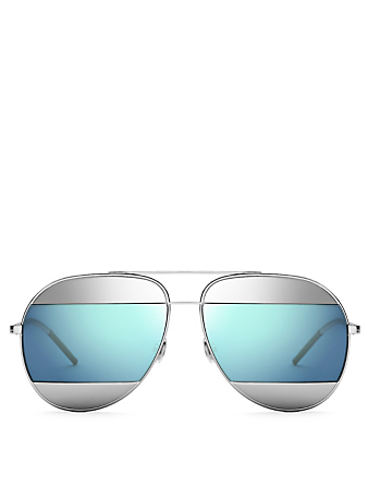 DIOR DiorSplit1 Aviator Sunglasses Women's Blue