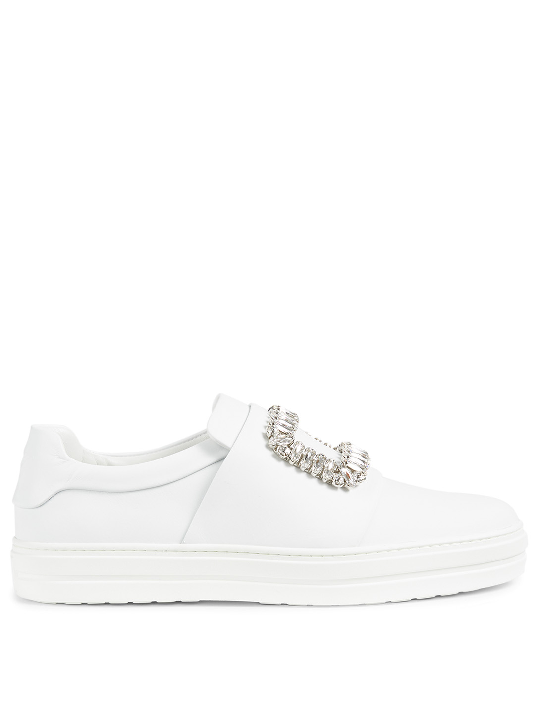 Sneaky Viv Buckle Leather Sneakers by Holt Renfrew