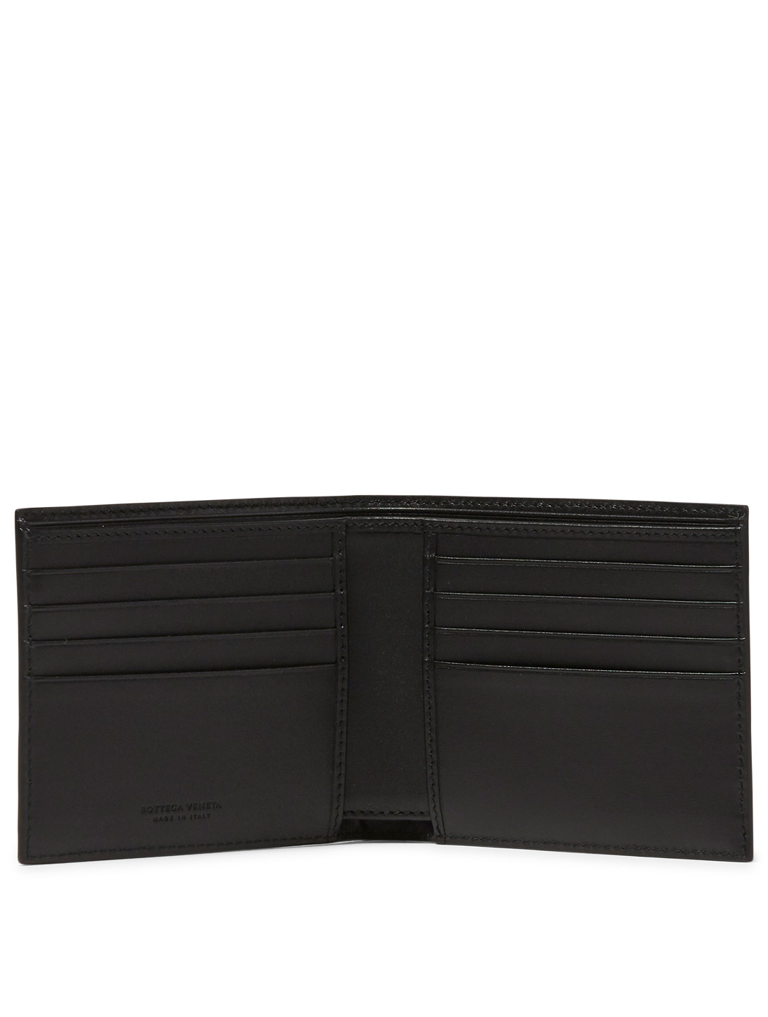 BOTTEGA VENETA Intrecciato Leather Bifold Wallet Men's Black