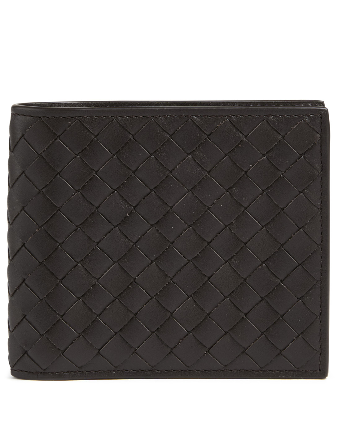 BOTTEGA VENETA Intrecciato Leather Bifold Wallet Men's Brown