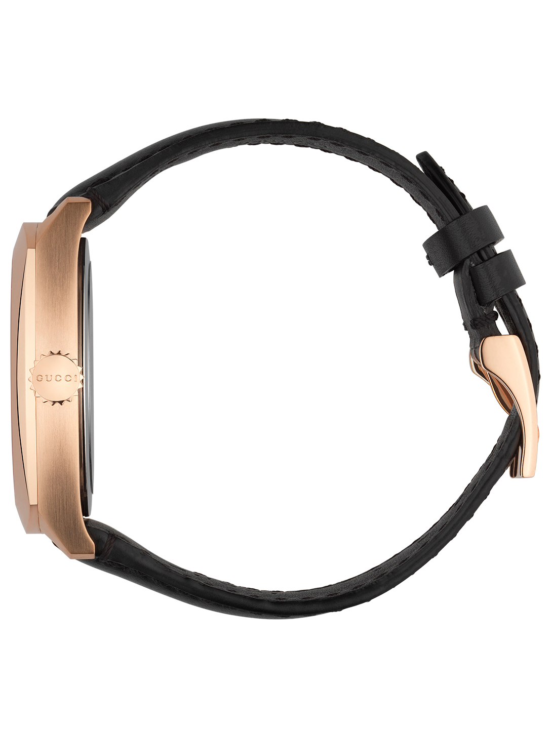 GUCCI Rose Goldtone Leather Strap Watch Women's Metallic
