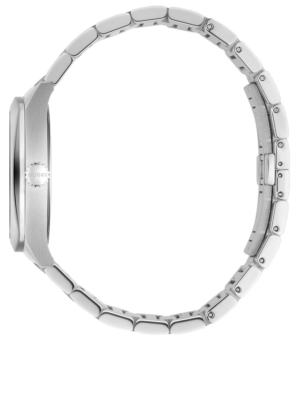 cb0d8fc040f ... GUCCI Stainless Steel Bracelet Watch With Diamonds Women s Silver ...