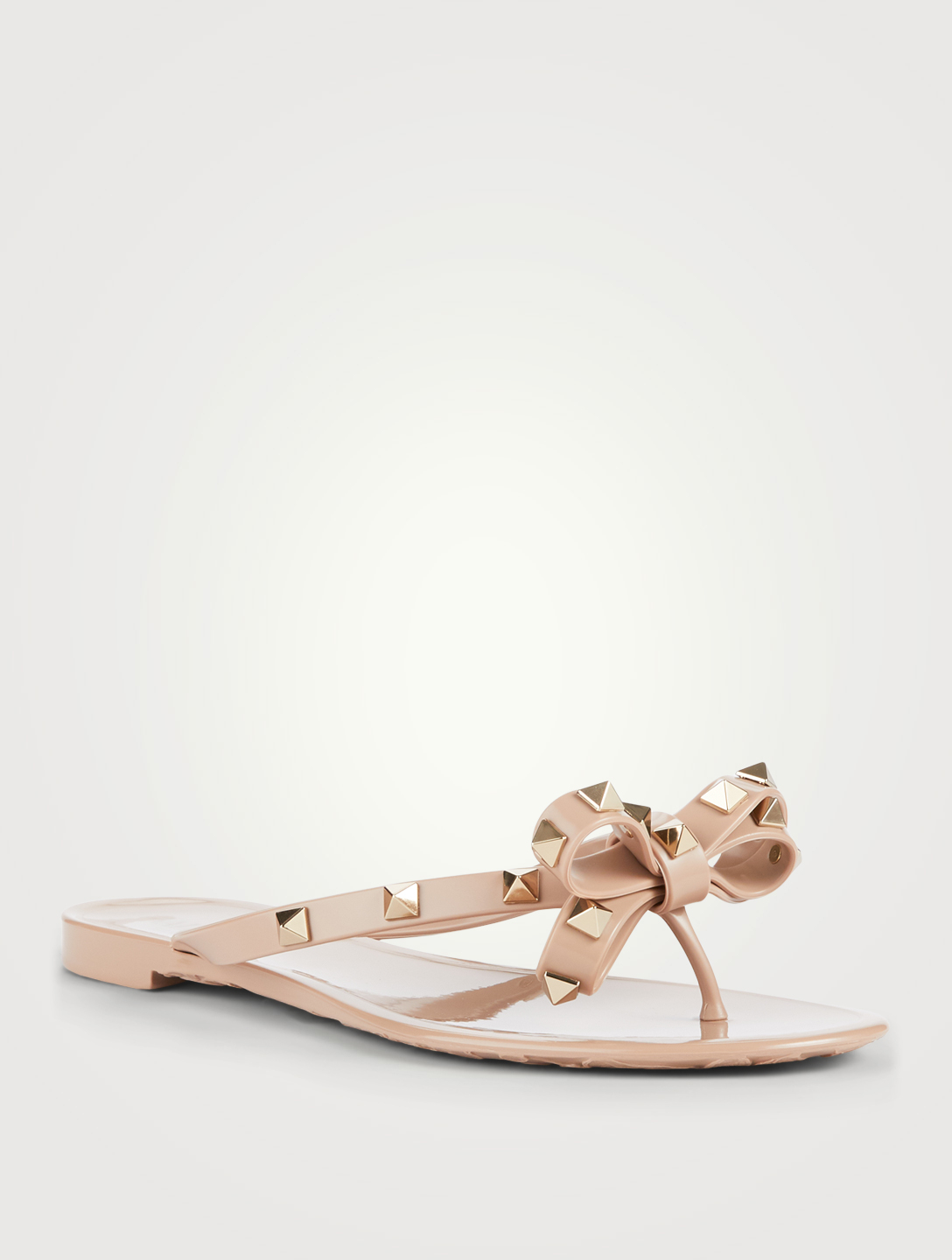 8ed1e47d0e2 ... VALENTINO Rockstud Jelly Thong Sandals Womens Neutral ...