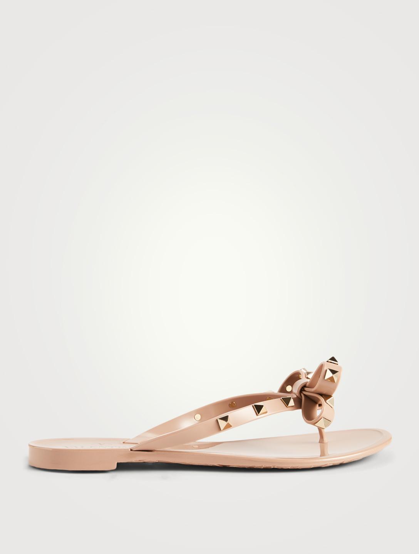 b1d87e26311b6 VALENTINO GARAVANI Rockstud Jelly Thong Sandals Women's Neutral ...