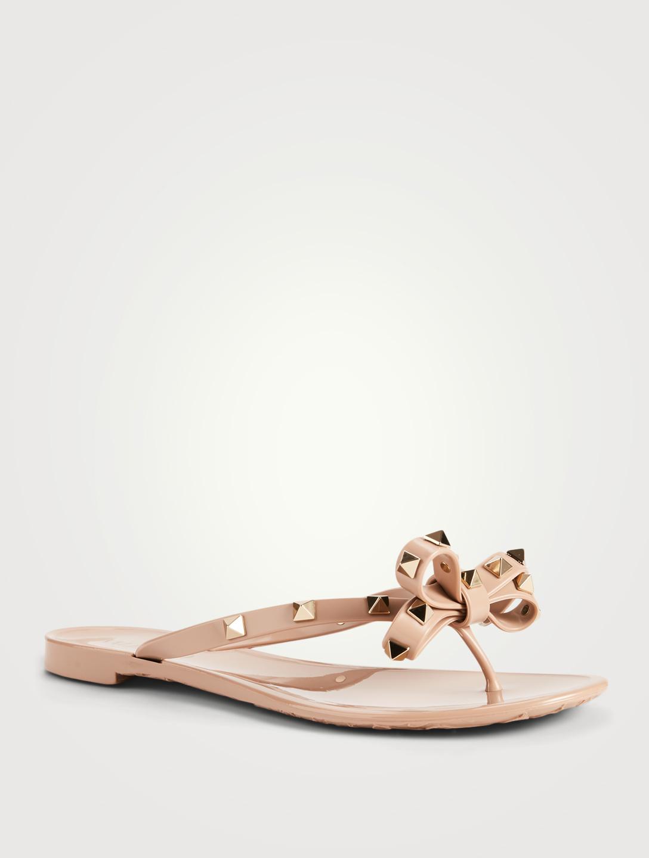 f9bcdfcd4 ... VALENTINO GARAVANI Rockstud Jelly Thong Sandals Women s Neutral ...
