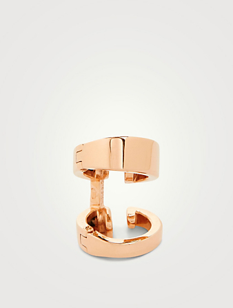 REPOSSI Berbere Module 18K Rose Gold Two-Row Ear Cuff Womens Metallic