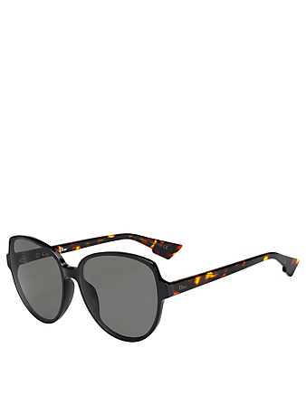 DIOR DiorOnde2 Round Sunglasses Women's Black
