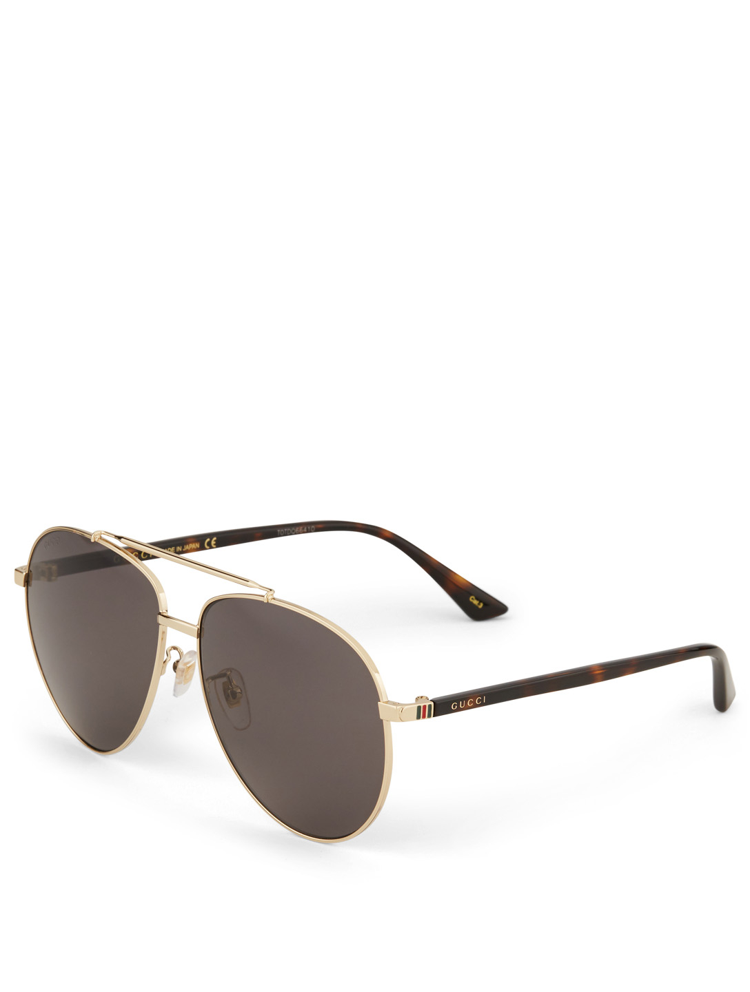 GUCCI Aviator Sunglasses Men's Gold