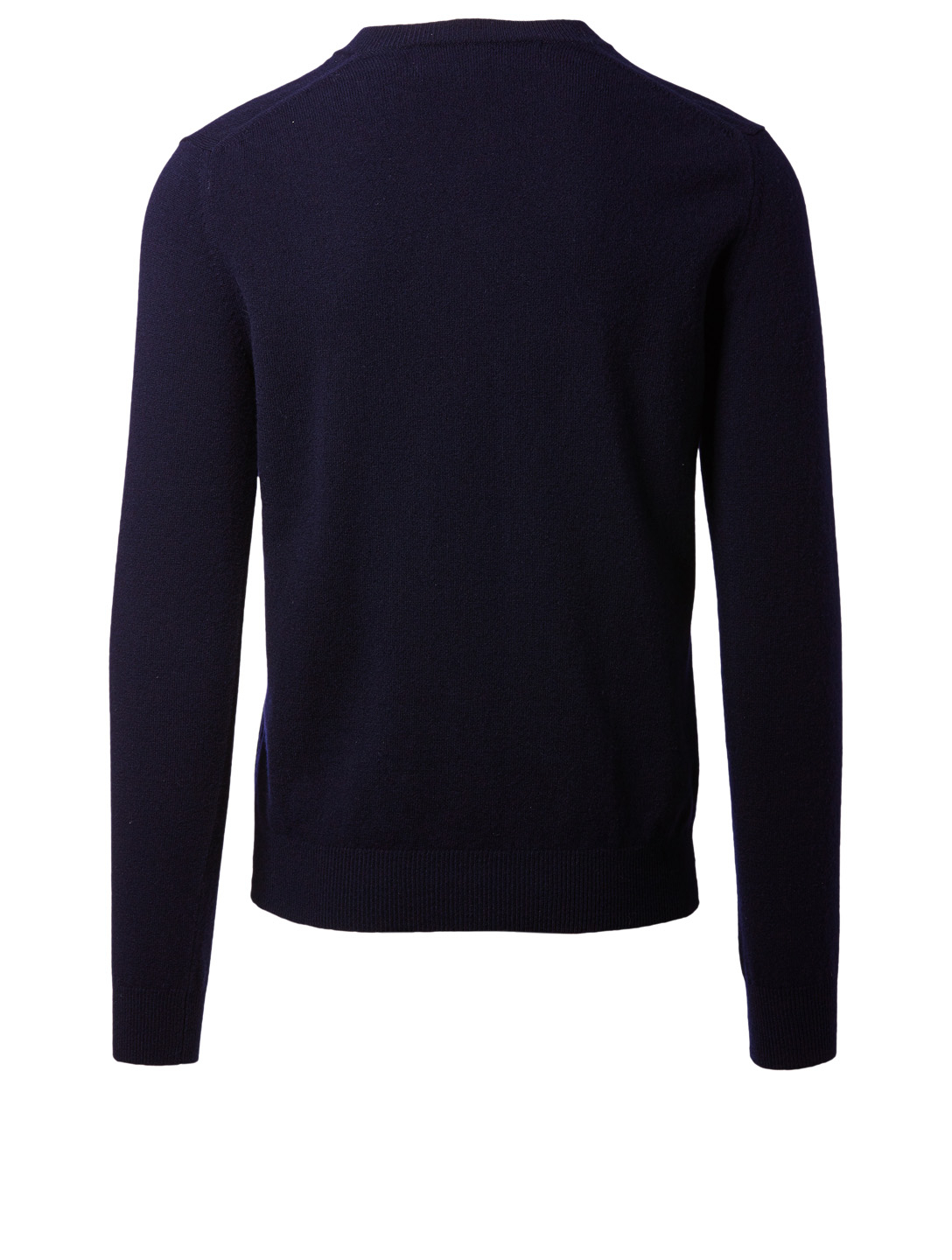 COMME DES GARÇONS PLAY Wool Gold Heart V-Neck Sweater Men's Blue