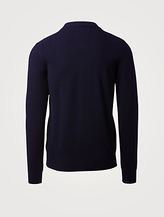 COMME DES GARÇONS PLAY Wool Gold Heart Cardigan Men's Blue