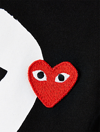 COMME DES GARÇONS PLAY Cotton Mini Heart T-Shirt Women's Black
