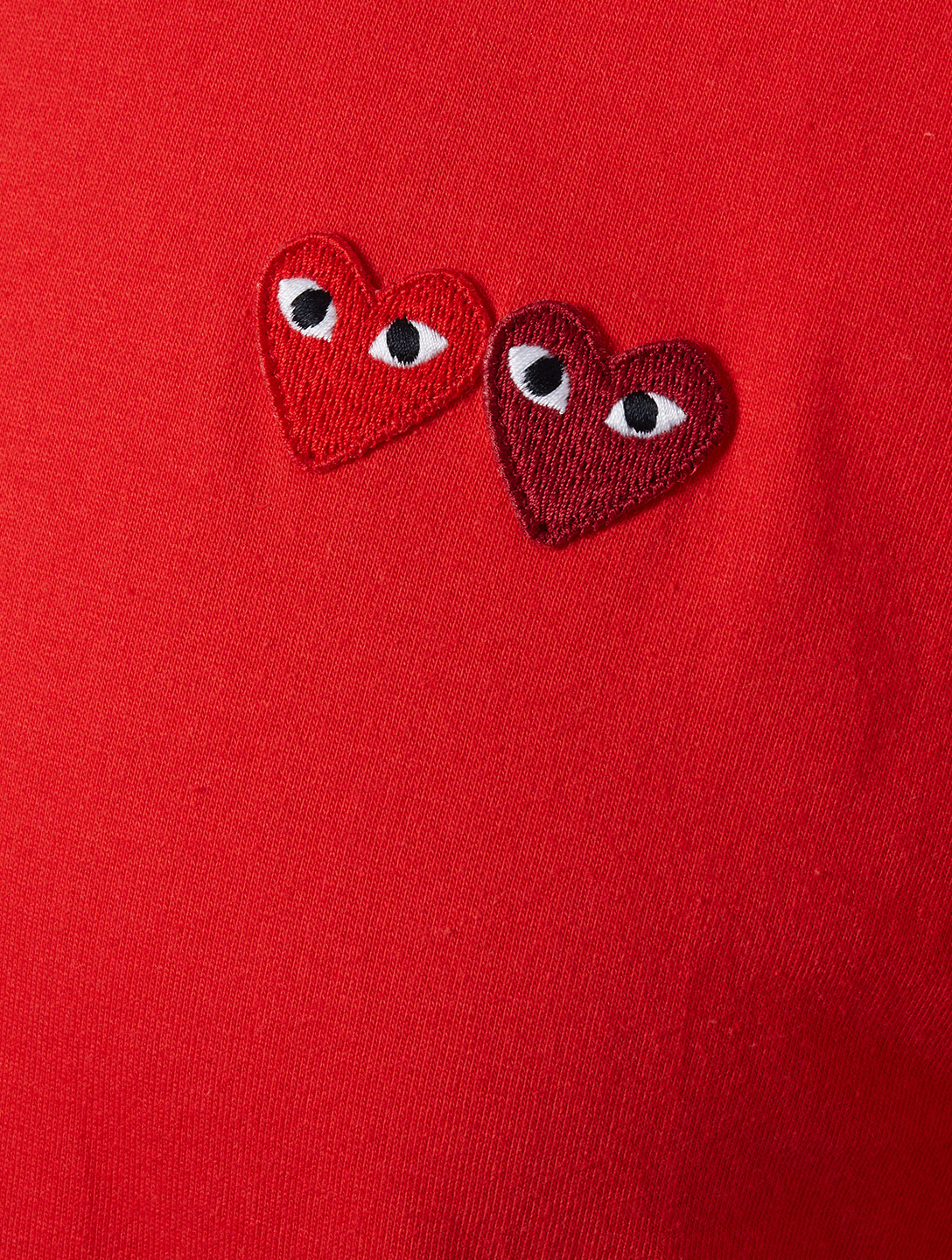 COMME DES GARÇONS PLAY Double Heart Patch T-Shirt Men's Red