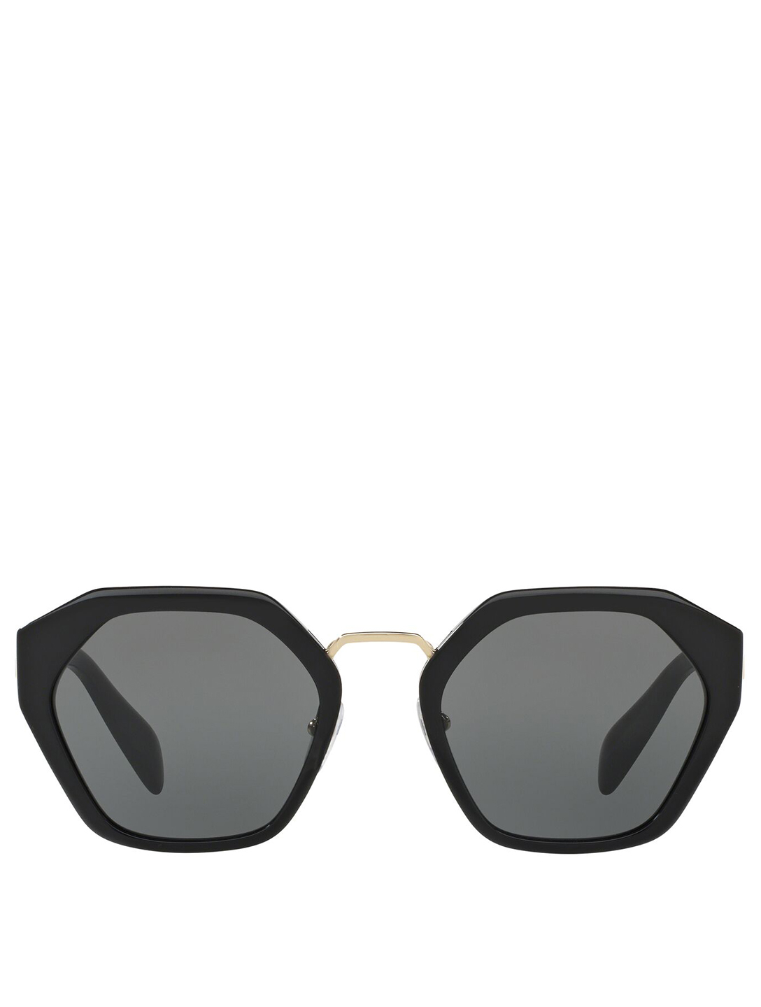 PRADA Octagonal Sunglasses Women's Black