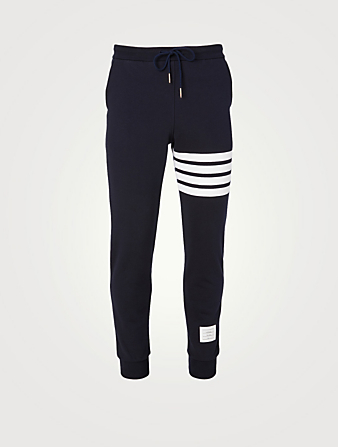 THOM BROWNE Four Bar Sweatpants Men's Blue