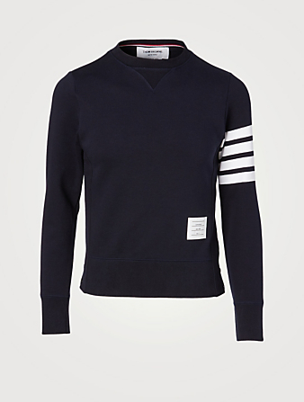 THOM BROWNE Four Bar Sweatshirt Men's Blue