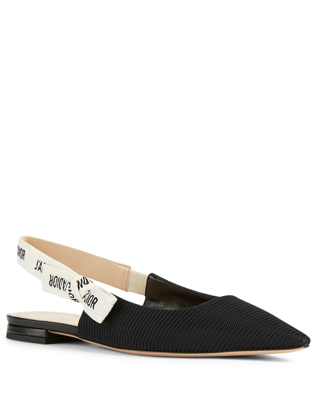 DIOR J'Adior Technical Canvas Slingback Ballet Flats Women's Black