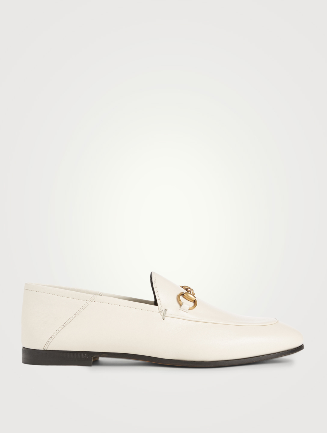 2de9e6af1 GUCCI Brixton Leather Loafers Women's White ...