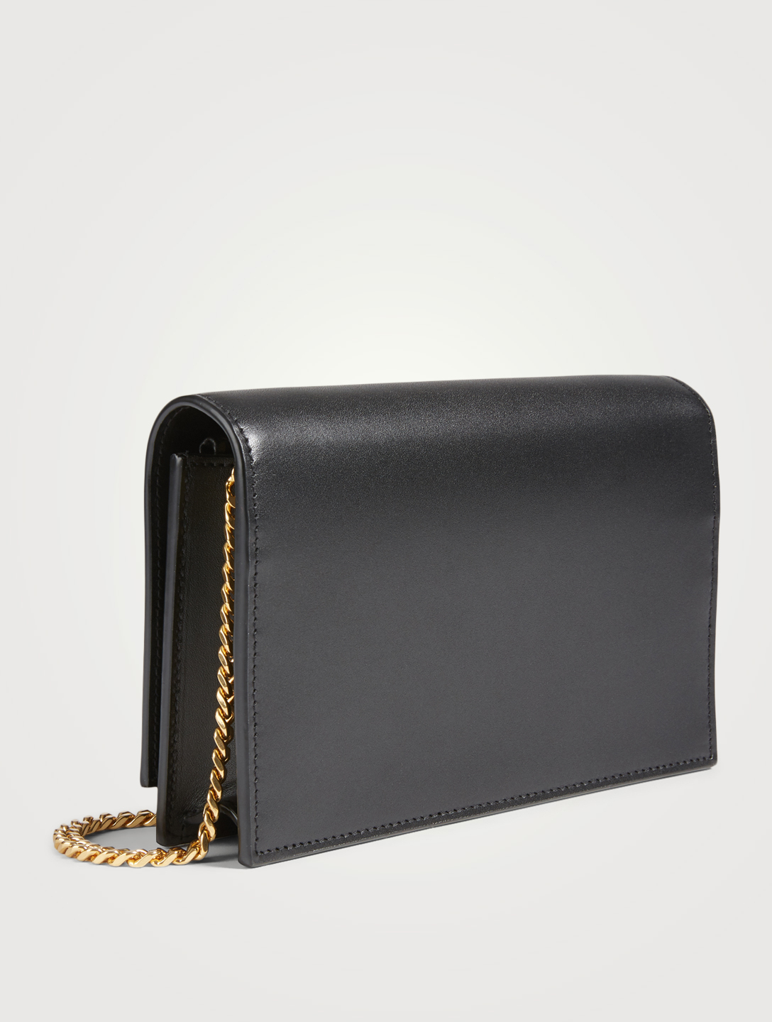 SAINT LAURENT Kate YSL Monogram Leather Chain Wallet Bag Women's Black
