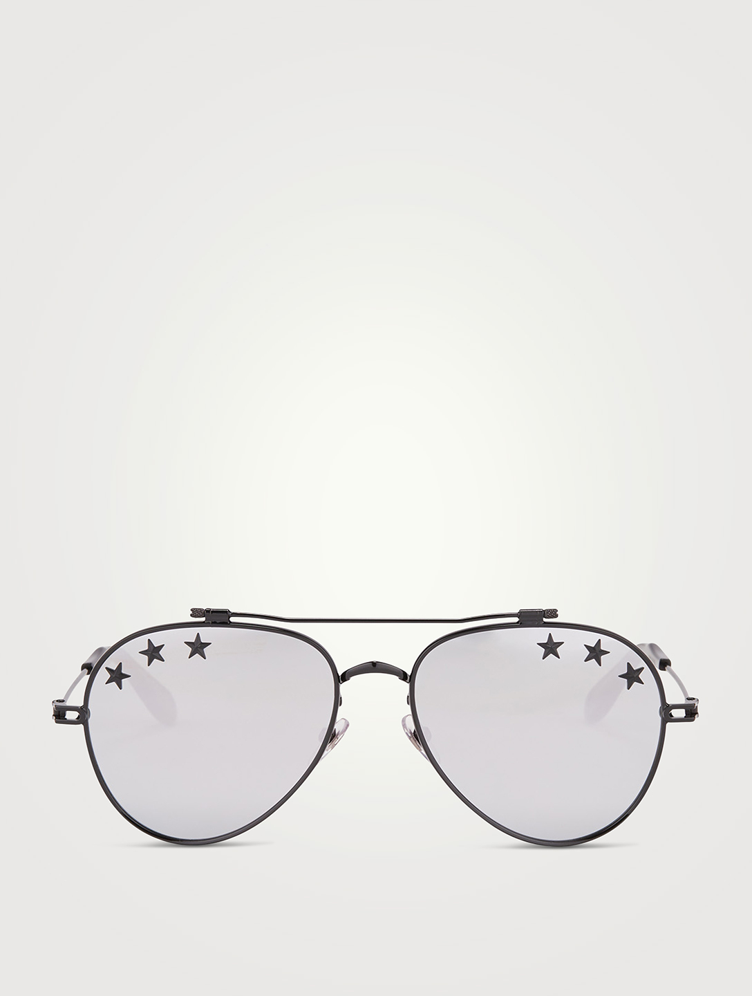 GIVENCHY Star Aviator Sunglasses Women's Silver