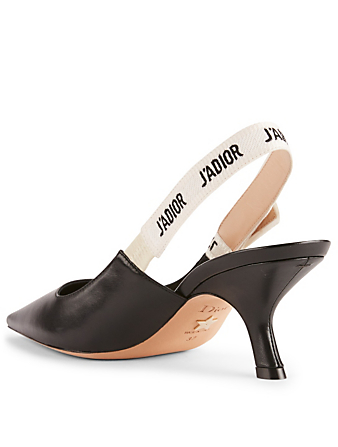 DIOR J'Adior Leather Slingback Pumps Women's Black