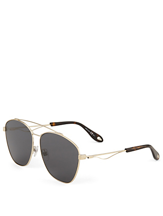 GIVENCHY Square Aviator Sunglasses Men's Grey