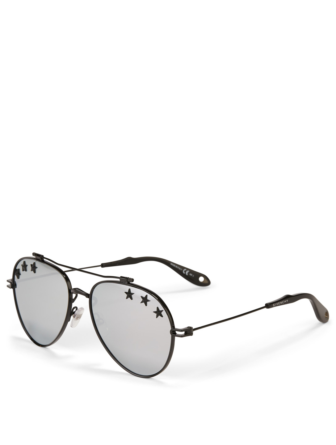 GIVENCHY Star Aviator Sunglasses Men's Silver